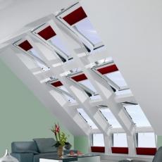 Ventanas de tejado + cortinas de oscurecimiento total